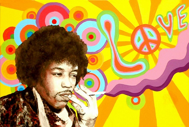 Jimi Hendrix Smoking